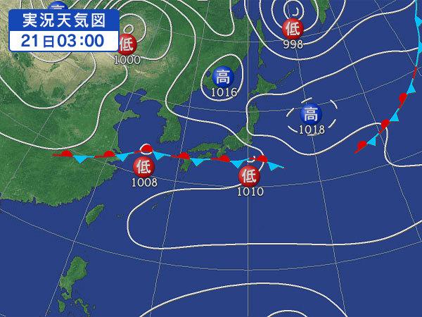 天気図・台風情報&お知らせ!